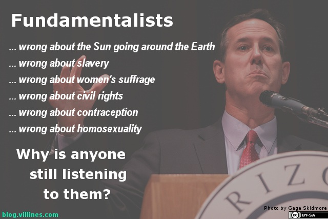 Why does anyone listen to Fundamentalists?