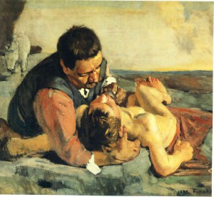 The Good Samaritan - Ferdinand Hodler (1885)