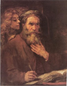 Evangelist Matthew Inspired by an Angel - Rembrandt