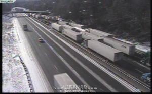 Traffic during Snowjam 2014