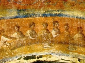 Fractio Panis - Image from the Catacomb of Priscilla
