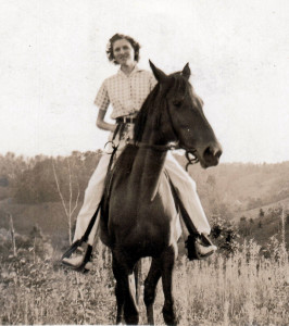 Sue Travis Villines in the 1940's.