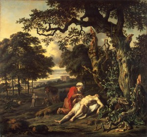 The Good Samaritan by Jan Wijnants (1670)