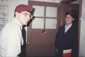 The author, at left, as a newly-minted paratrooper studying at the Defense Language Institute (1993)