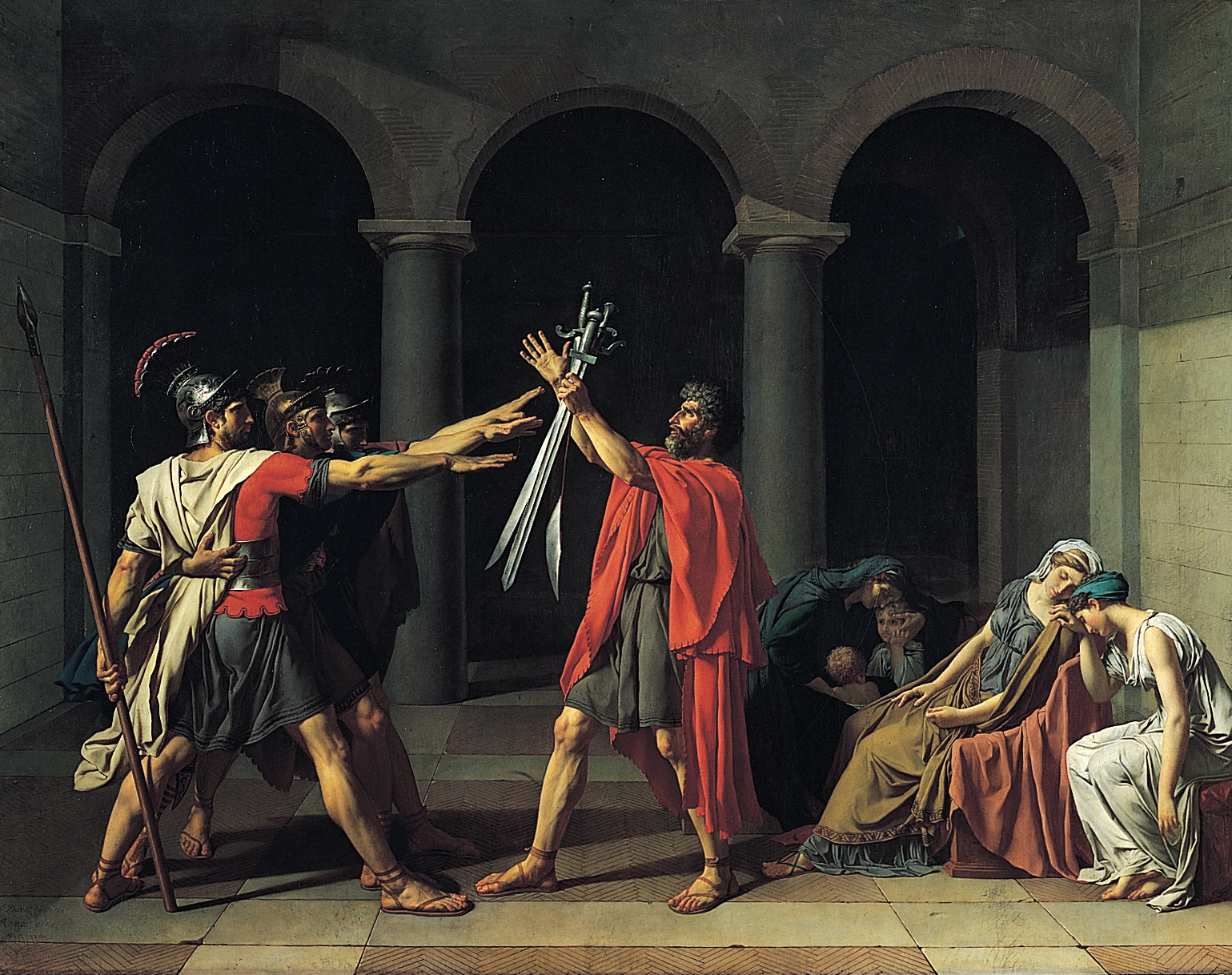 Oath of the Horatii - Jacque-Louis David (1784) (Wikimedia)