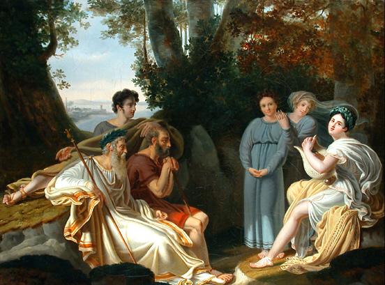 Sappho and Homer - Charles Nicolas Rafael Lafond